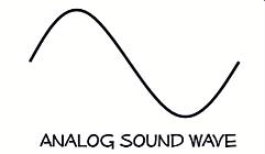 Analog Sound Wave Image