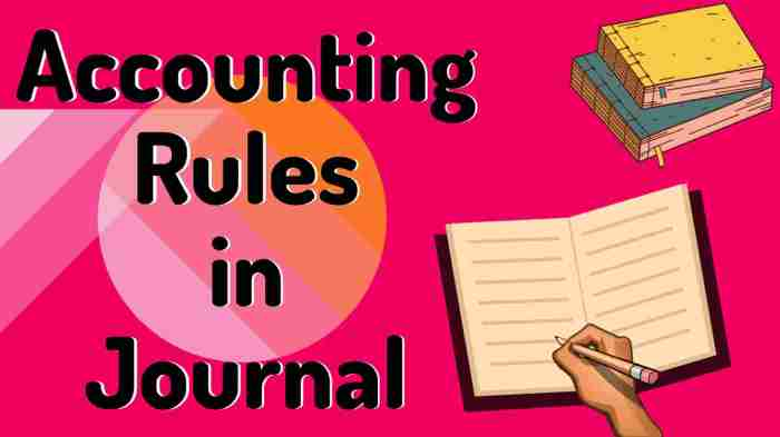 Accounting rules in journal
