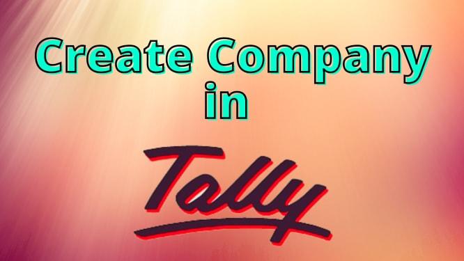 Create Company in Tally