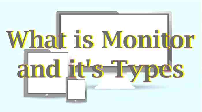 What is Monitor and it's Types