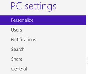 Personalize Option