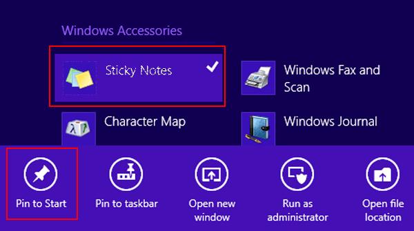 Pin to Start Option