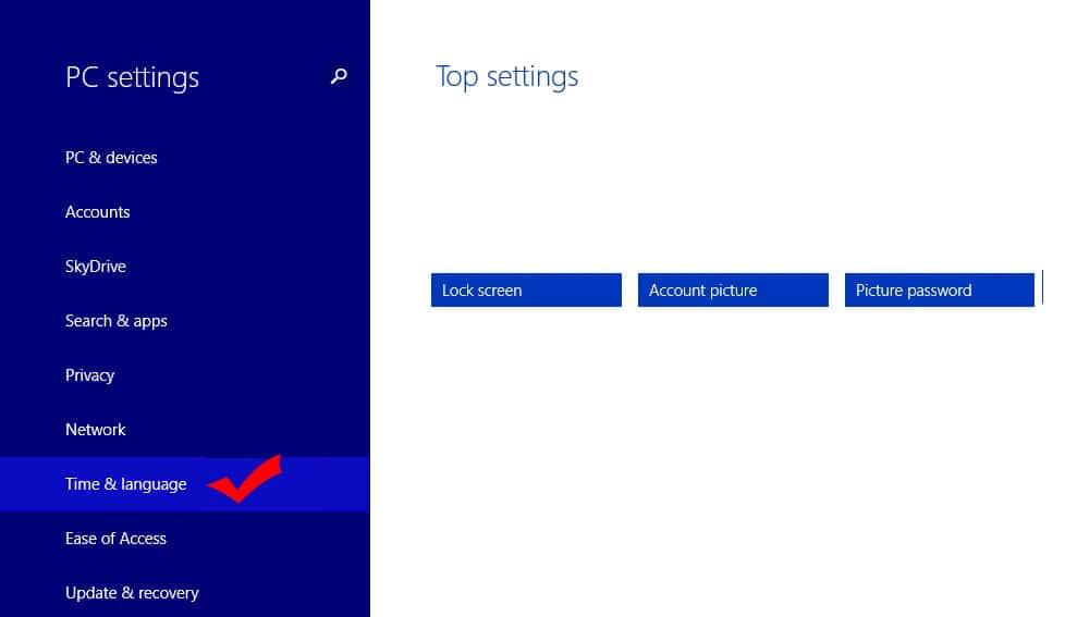 Windows 8.1 PC Language Settings 1